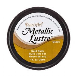 DecoArt Metallic Lustre™ Wax Finish Gold Rush